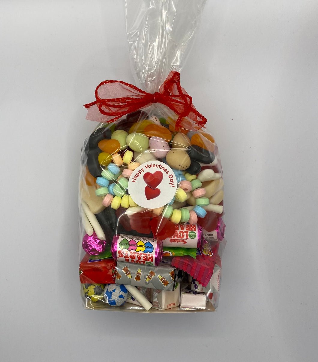 Gift bag of pic n mix for Valentine's day