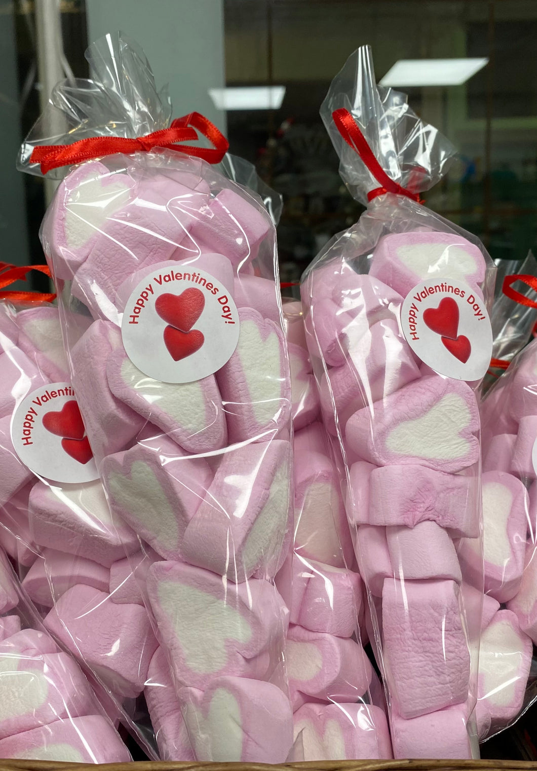 Sweet cone of heart marshmallows (Valentine's gift)(flumps)