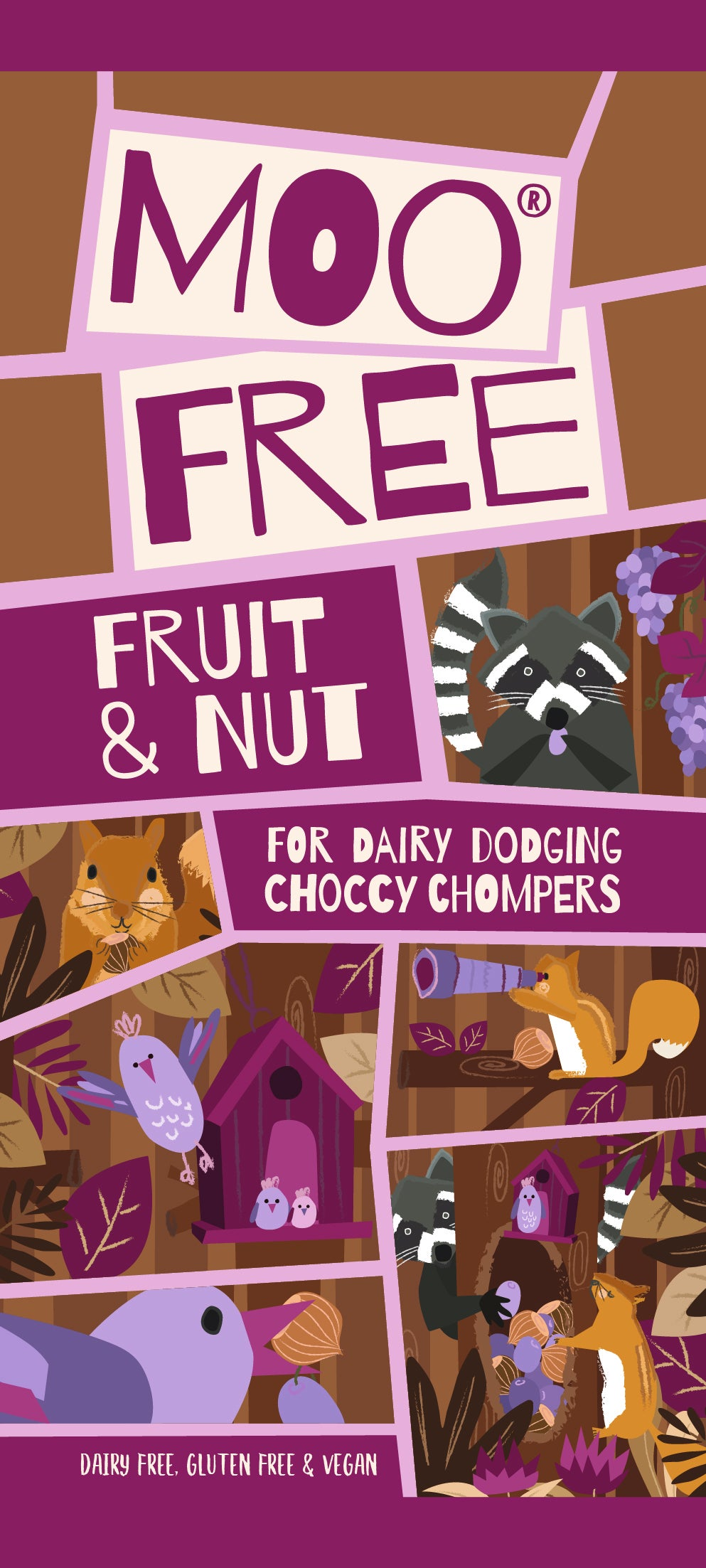 Moofree fruit and nut bar