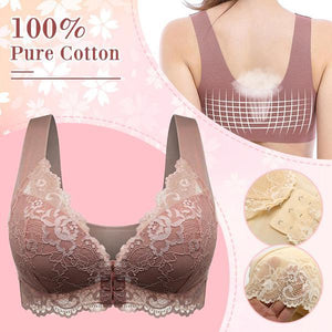 Oversize (M-8XL) Front Closure Extra-Elastic Breathable Bra