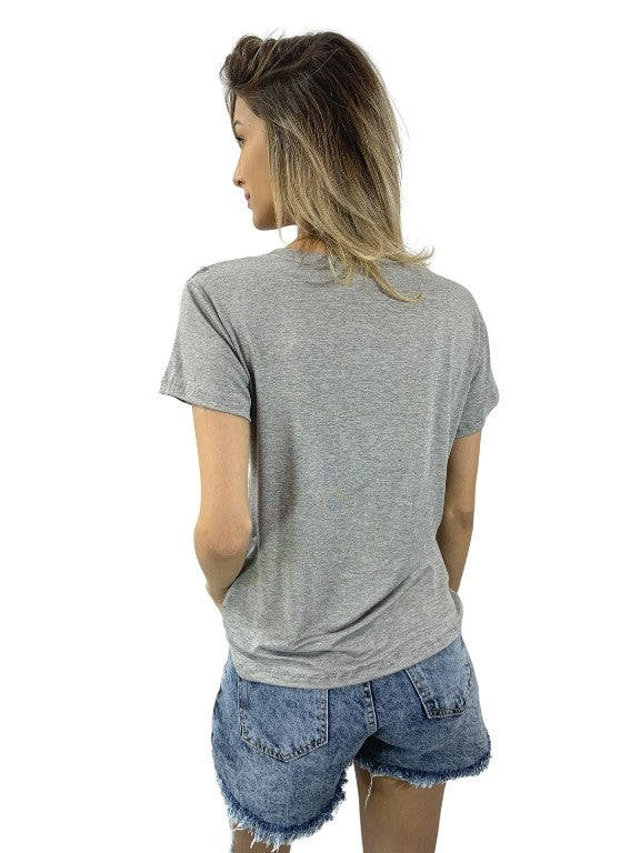 T-SHIRT ESTAMPA CHIC