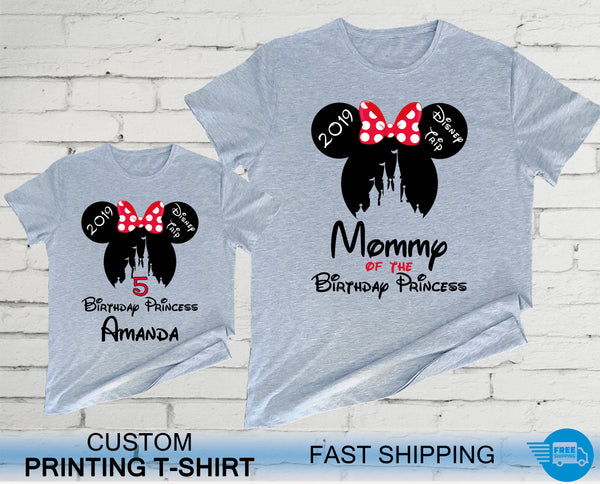 Mickey & Minnie Birthday Family Shirts