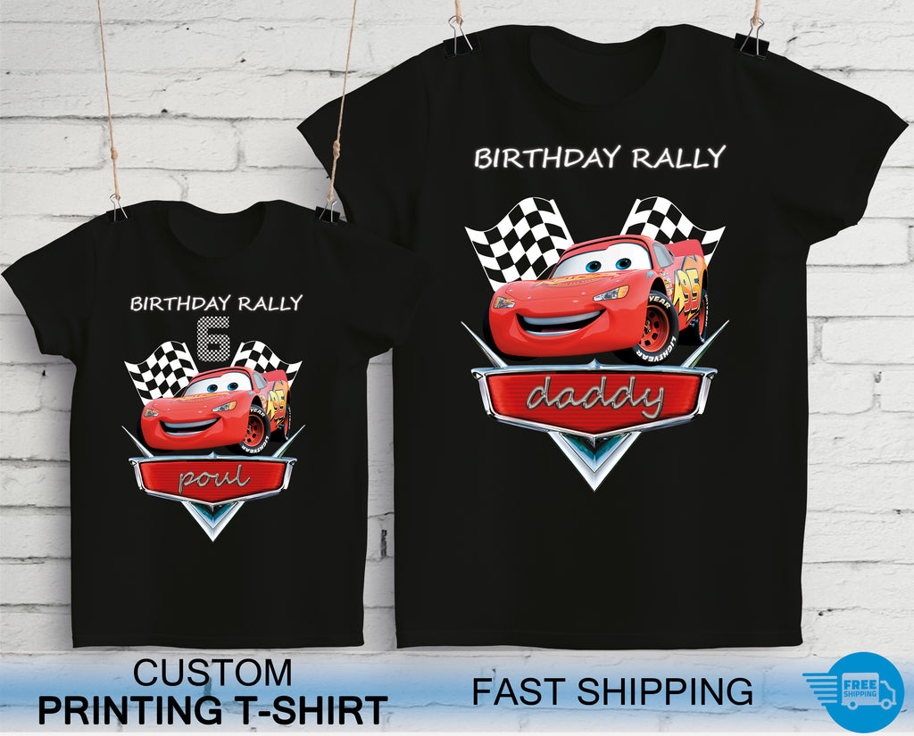 Cars Birthday Rally Party T-Shirts