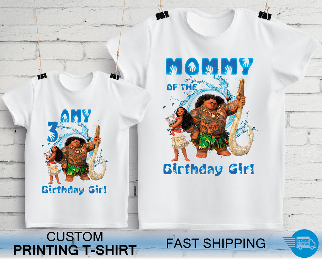 Moana Birthday Party T-Shirts