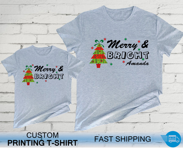 Merry & Bright Christmas Shirts