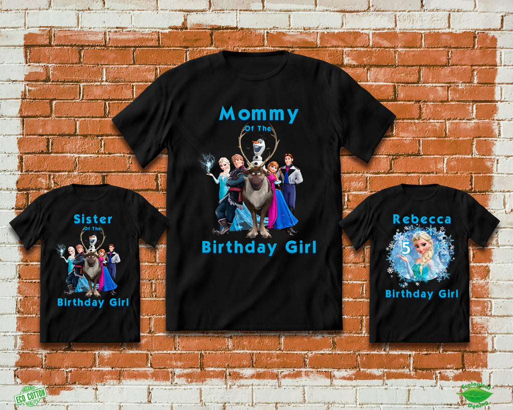 Frozen Birthday Shirts Elsa Birthday Party Shirts