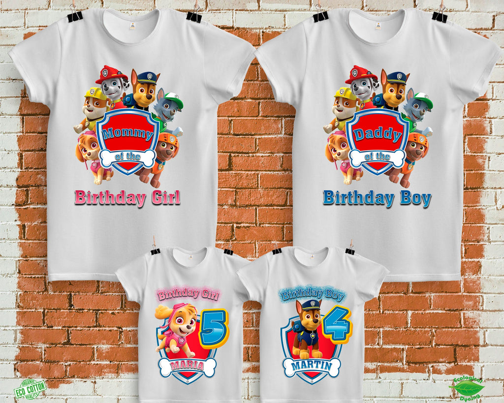 Paw Patrol Birthday Shirts