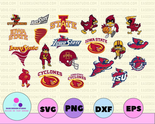 Iowa State Cyclones, Iowa State Cyclones logo, Iowa State Cyclones svg, Iowa State Cyclon clipart, Iowa State Cyclon cut, NCAA SVg, NCAA club - EaseDesignStudio