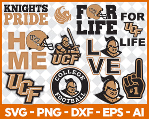 UCF Knights football svg,sport svg, football svg, silhouette svg, cut files, College Football svg, ncaa logo svg, - EaseDesignStudio
