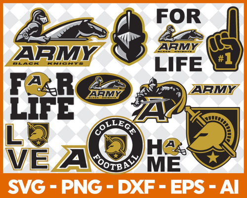 Army Black Kinght Football svg, football svg, silhouette svg, cut files, College Football svg, ncaa logo svg - EaseDesignStudio