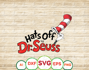 Hats of to dr seuss svg Dr Seuss svg Read across America svg Dxf Png clipart vector sublimation print iron on print - EaseDesignStudio
