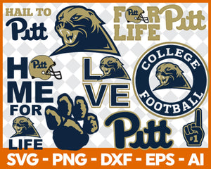 Pittsburgh Panthers Football svg, football svg, silhouette svg, cut files, College Football svg, ncaa logo svg, - EaseDesignStudio