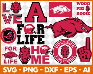Arkansas Razorbacks Football svg, football svg, silhouette svg, cut files, College Football svg, ncaa logo svg, - EaseDesignStudio