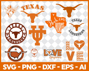 Texas LongHorns, Texas LongHorns svg, Texas LongHorns clipart, Texas LongHorns cricut, football svg, NCAA Sports svg, png dxf eps, - EaseDesignStudio