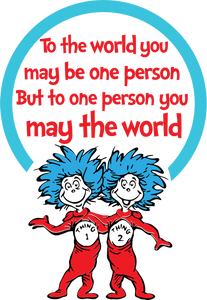 To the world you may be one person svg, Thing one two svg, Dr Seuss svg, Read across america, dxf, clipart, vector, png,sublimation, iron - EaseDesignStudio