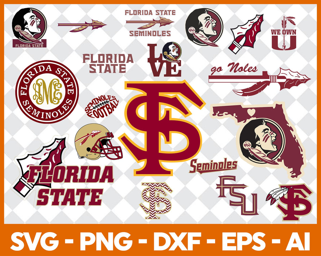 Florida State Seminoles, Florida State Seminoles svg, Florida State Seminoles clipart, Florida State Seminoles cricut, football svg, NCAA Sports svg, png dxf eps, - EaseDesignStudio