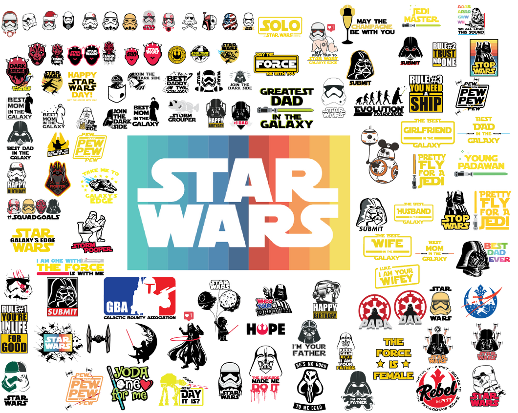Star Wars Svg, Star Wars Bundle svg, star Wars Characters svg, Star Wars dxf cut files, Star Wars Clipart, Rebel Alliance, Galactic Empire - EaseDesignStudio