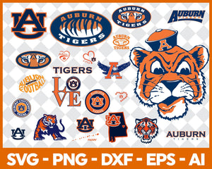 Auburn Tigers, Auburn Tigers svg, Auburn Tigers clipart, Auburn Tigers cricut, football svg, NCAA Sports svg, png dxf eps, - EaseDesignStudio