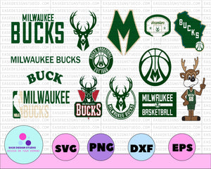 Milwaukee Bucks SVG,Cut File, Stencil and Decal Files Logo for Silhouette, Cricut ,SVGS, Cutouts, Basketball Decals Logos, Bucks svg, Buck svg - EaseDesignStudio
