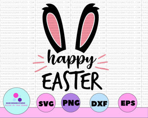 Happy Easter svg, Easter svg, Easter svg Files, Easter svg Kids, Easter svg Files for Cricut, Easter svg for Women, Easter svg Shirt, dxf - EaseDesignStudio