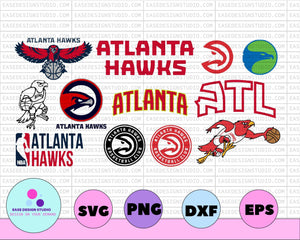 NBA ATLANTA HAWKS SVG, PNG Cut File, Hawks, Atlanta Hawks, Atlanta, NBA, Silhouette Cut File, Cricut Cut File, Hawks svg, cut file, Atlanta svg - EaseDesignStudio