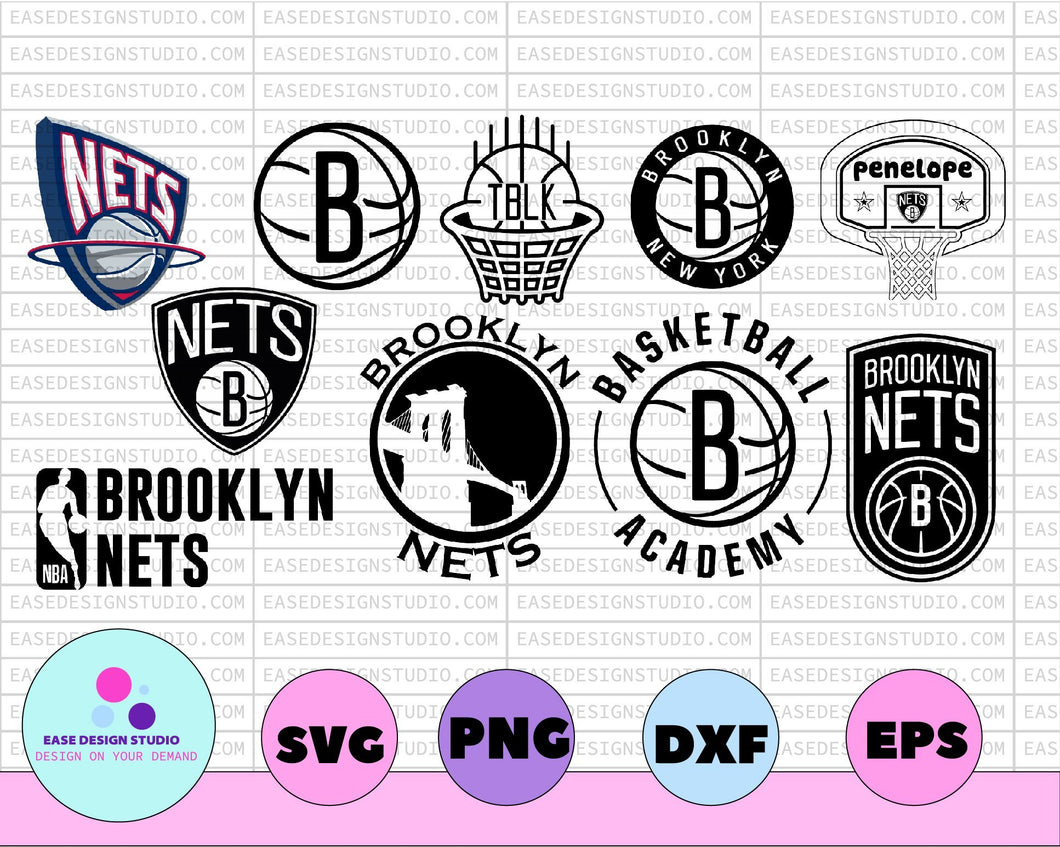 NBA Brooklyn Nets, Brooklyn Net svg, Basketball Academy, Broklyn svg,basketball bundle svg,svg,png,dxf,eps - EaseDesignStudio