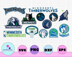 NBA Minnesota timberwolves, NBA, Silhouette Cut File, Cricut Cut File, Hawks svg, cut file - EaseDesignStudio