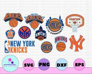 NBA Logo New York Knicks National Basketball, basketball svg,svg,png,dxf,eps - EaseDesignStudio