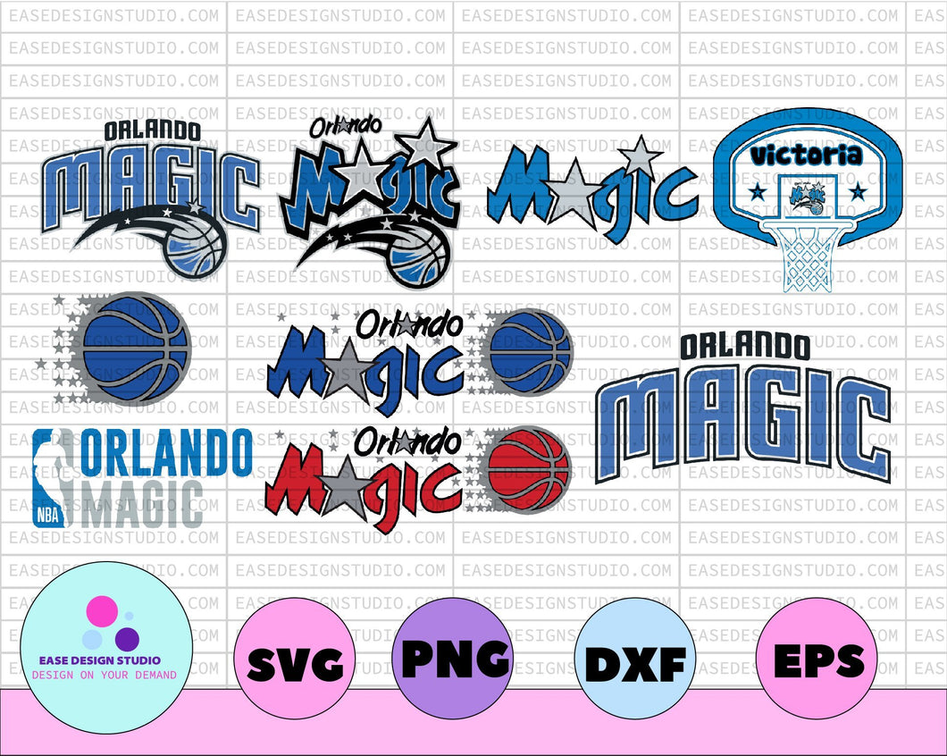 NBA Orlando Magic, Orlando Magic svg,basketball bundle svg,svg,png,dxf,eps - EaseDesignStudio