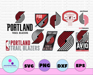NBA PORTLAND TRAILBLAZERS svg,basketball bundle svg,svg,png,dxf,eps - EaseDesignStudio