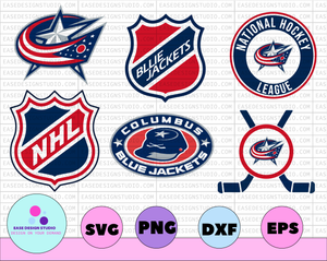 Columbus Blue Jackets Svg, Blue Jackets Svg, NHL svg, hockey cricut, Download - Cut File, Clipart -Cricut Explorer -Silhouette Cameo, hockey - EaseDesignStudio