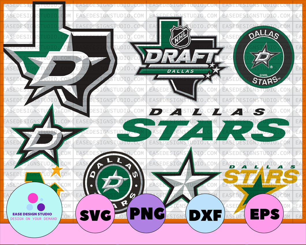 Dallas Stars SVG ,dxf,png,eps, NHL svg, hockey cricut, hockey svg,Download - Cut File, Clipart - Cricut - Silhouette Cameo,hockey logo - EaseDesignStudio