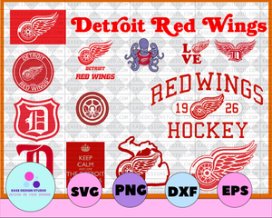 Detroit Red Wings Svg, Red Wings Svg,NHL svg, hockey cricut, Download - Cut File, Clipart -Cricut Explorer -Silhouette Cameo,hockey logo svg - EaseDesignStudio