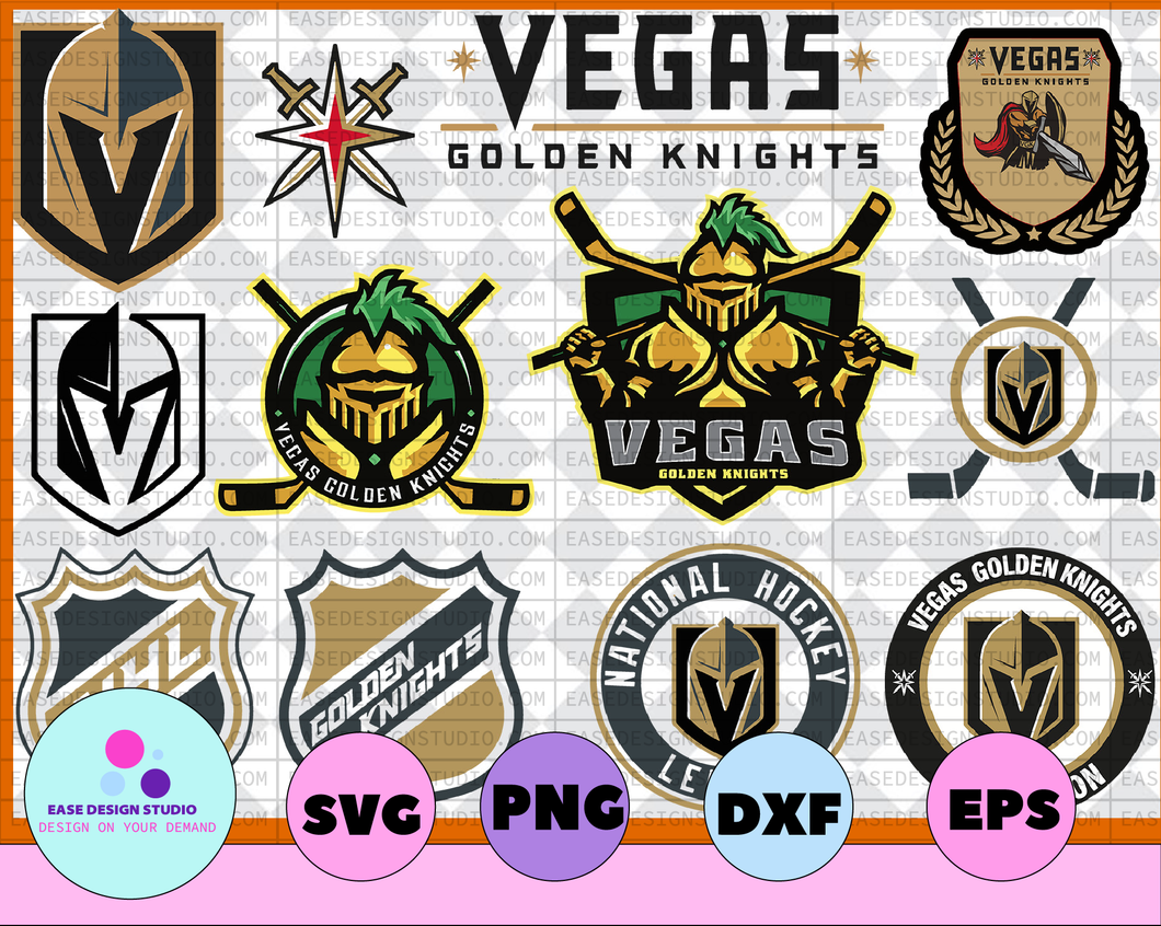 Vegas Golden Knights Svg, Golden Knights Svg, NHL svg, hockey cricut, hockey logo svg, NHL Download - Cut File, Clipart - Silhouette Cameo, - EaseDesignStudio
