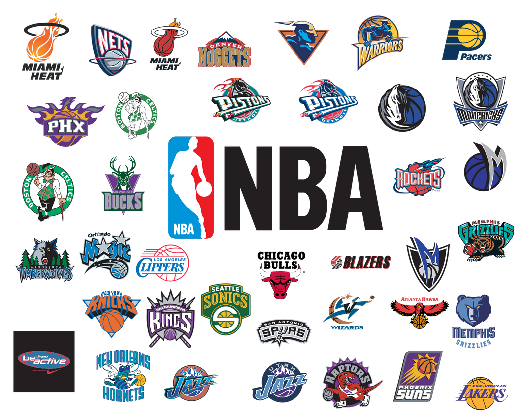 NBA Logo Bundle SVG, Nba Svg, Basketball svg, Png, Svg, Jpg, Eps, Dxf, Digital Download, Digital Design - EaseDesignStudio