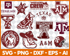 Texas A&M Aggies, Texas A&M Aggies svg, Texas A&M Aggies clipart, Texas A&M Aggies cricut, football svg, NCAA Sports svg, png dxf eps, - EaseDesignStudio