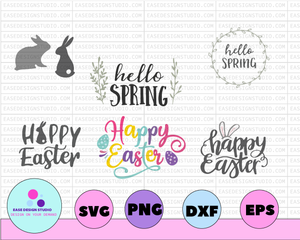Easter svg, Easter bundle svg, Bunny Easter svg, Happy Easter svg, Ester Sign svg, Spring, Cricut Design, Commercial use, Instant Download - EaseDesignStudio