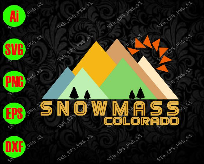 Snowmass colorado svg, dxf,eps,png, Digital Download