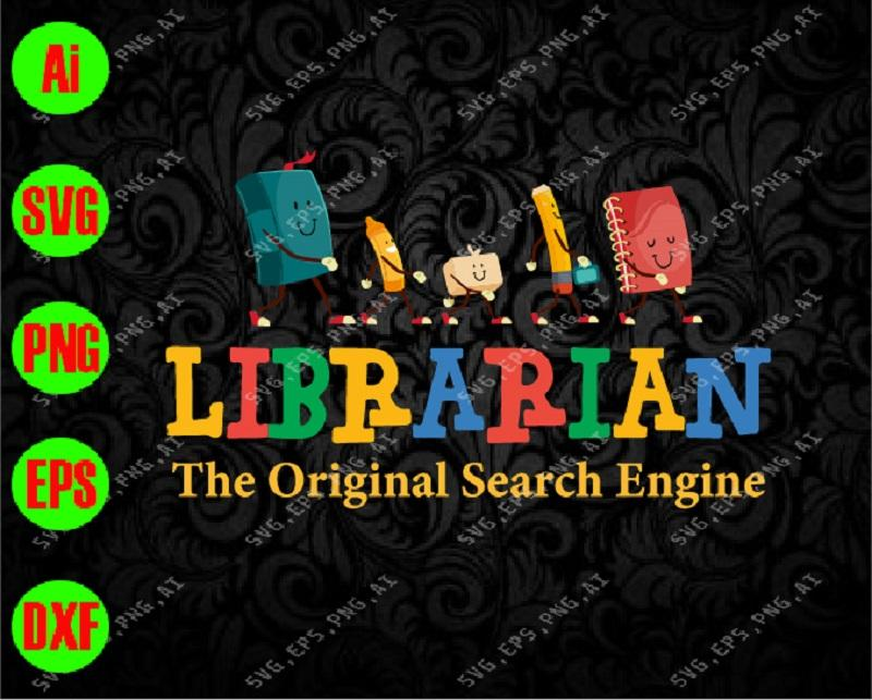 Librarian the original search engine svg, dxf,eps,png, Digital Download