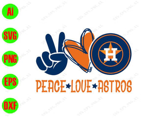 Peace love astros, svg, dxf,eps,png, Digital Download