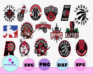 NBA Logo - Toronto Raptors Bundle SVG,nstant download,svg,clipart,logo svg,Digital Cut File,cricut silhouette,vectors,cut files!! - EaseDesignStudio