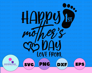 Dollar Deal, 1st Mother's Day, Happy Mothers Day, First Mother's Day, Mother's Day Gift, From Daughter, Mothers Day Svg - EaseDesignStudio