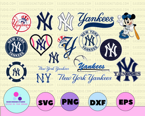 New York Yankees,Yankees team svg,Yankees svg,Yankees,Yankees dxf,American League MLB,MLB svg,Baseball font,Baseball clipart - EaseDesignStudio