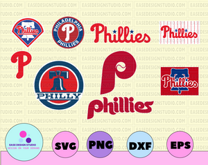 Philadelphia Phillies Cut Files, SVG Files, Baseball Clipart, Cricut Phillies Cutting Files, Baseball DXF, Clipart, Instant Download - EaseDesignStudio