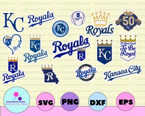 Kansas City Royals svg, Kansas City Royals logo, Kansas City Royals printables,Kansas City Royals png, Kansas City Royals clipart - EaseDesignStudio