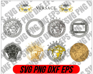 Versace svg, Versace logo svg, Pattern svg, Versace logo designs, Versace logo pattern svg, cut files, brand logo svg, digital download, - EaseDesignStudio