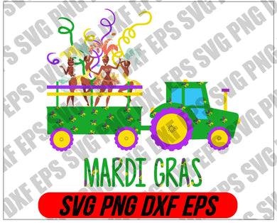 Mardi Gras SVG -  svg, png, dxf, eps digital download - EaseDesignStudio