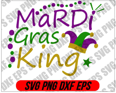 Mardi Gras SVG - Mardi Gras King svg, png, dxf, eps digital download - EaseDesignStudio
