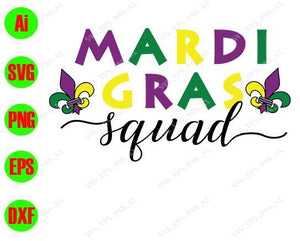 Mardi Gras SVG, Mardi gras squal svg, png, dxf, eps digital download - EaseDesignStudio