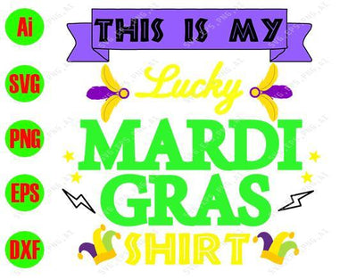 Mardi Gras SVG - This is my lady Mardi Gras shirt svg, png, dxf, eps digital download - EaseDesignStudio